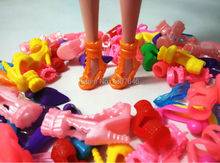 15Pairs Colorful Assorted Shoes For Barbie Doll With Different Styles Fashion Toy Girls Christmas Gift