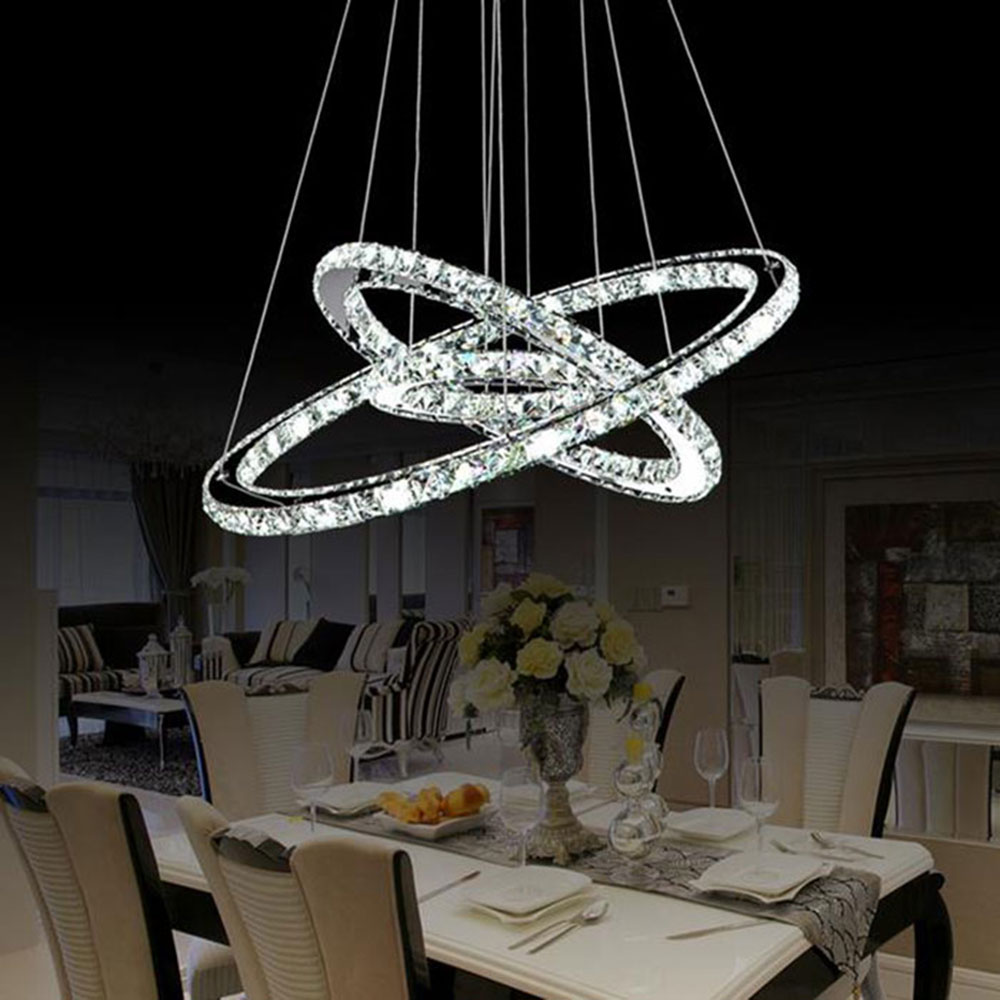 Modern led chandelier light fixture led crystal ring lamp Fixture exterieur led