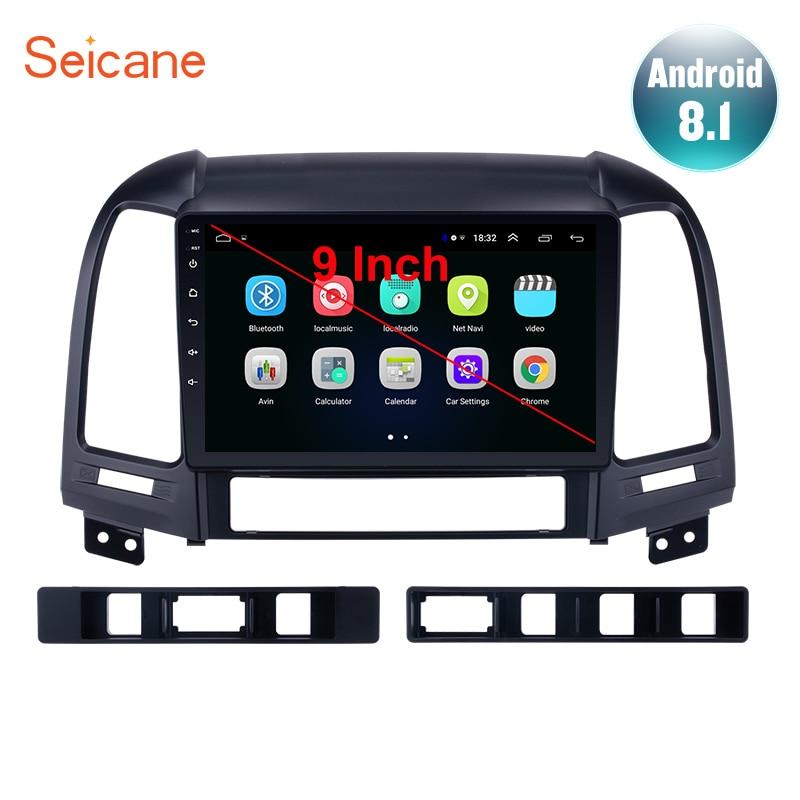 Seicane 9 Android 8 1 2din Car Radio For HYUNDAI SANTA FE 2005 2006 2007 2008