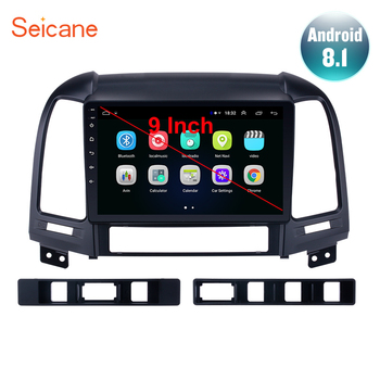Seicane 9 Android 9.1 2din Car Radio For HYUNDAI SANTA FE 2005 2006 2007 2008 2009 2010 2011 2012 GPS Stereo Player Head Unit image