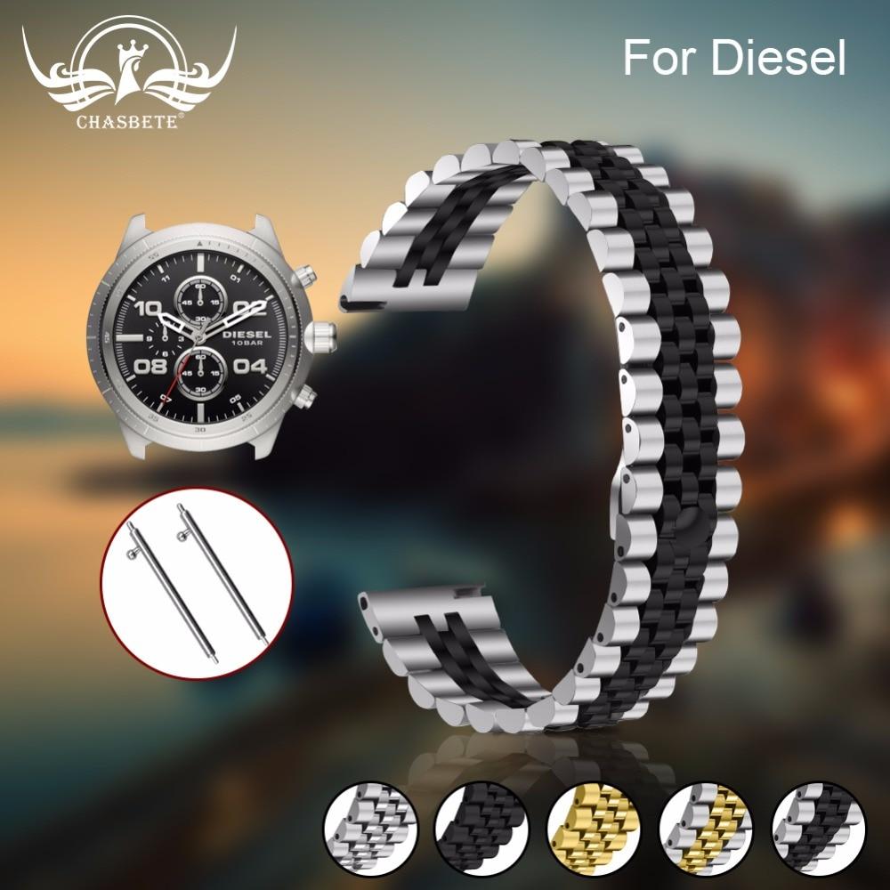 Ремешок для часов из нержавеющей стали для мужчин и женщин, черный и серебристый цвета, 18 мм/20 мм/22 мм, золотой ремешок для часов