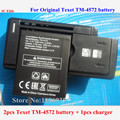 3pcs=2x Texet TM-4572 Mobile Phone Battery 1500mAh + 1x YIBOYAUN Universal Charger