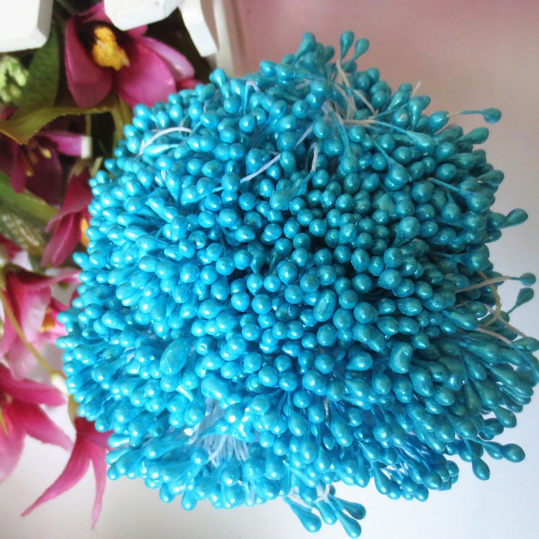 1 Комплект = 150 шт. искусственный цветок двойной головок тычинки перламутровые Craft карточек торты цветочный Декор для дома Свадебная вечеринка Декор
