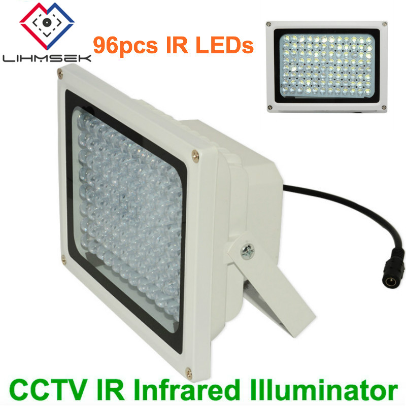 Lihmsek Professional CCTV Fill Light 96pc IR Infrared LEDs 80m IR distance CCTV IR Illuminator For Security Surveillance cameras