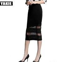 S XXL Women Pencil Skirt Fashion Ol Slim Bodycon Sexy Skirt Business Wear Office Style Plus