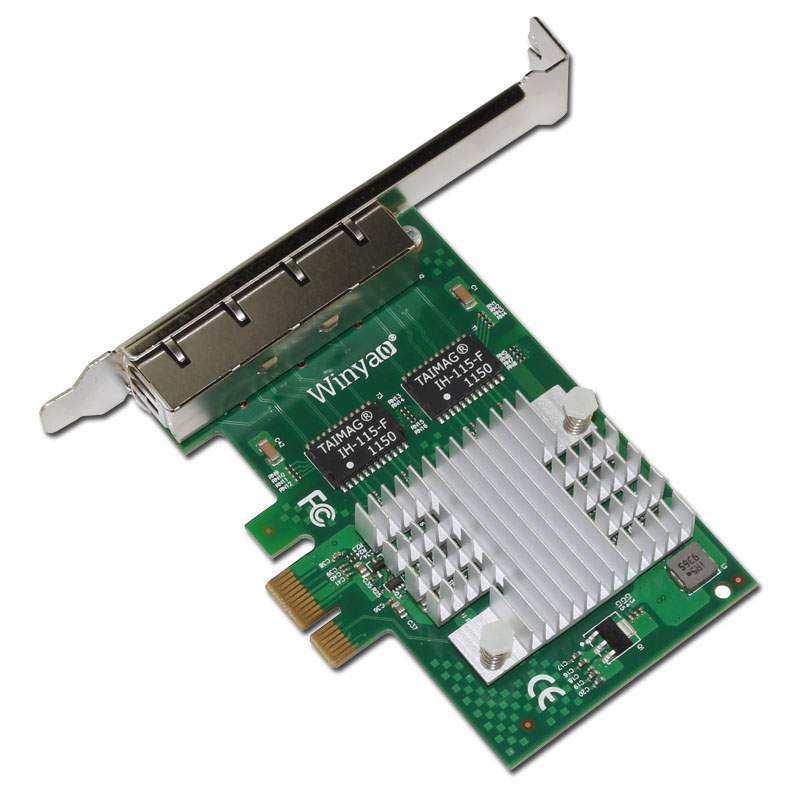 PCIe x1 Quad port Gigabit Ethernet Adapter 10/100/1000M I340 T4 Server Card  ESXI-in Network Cards from Computer & Office