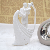20cm Marriage Cake Topper Just Arrival Dancing Bride And Groom With Heart Couple Figurine Wedding Cupcake Toppers
