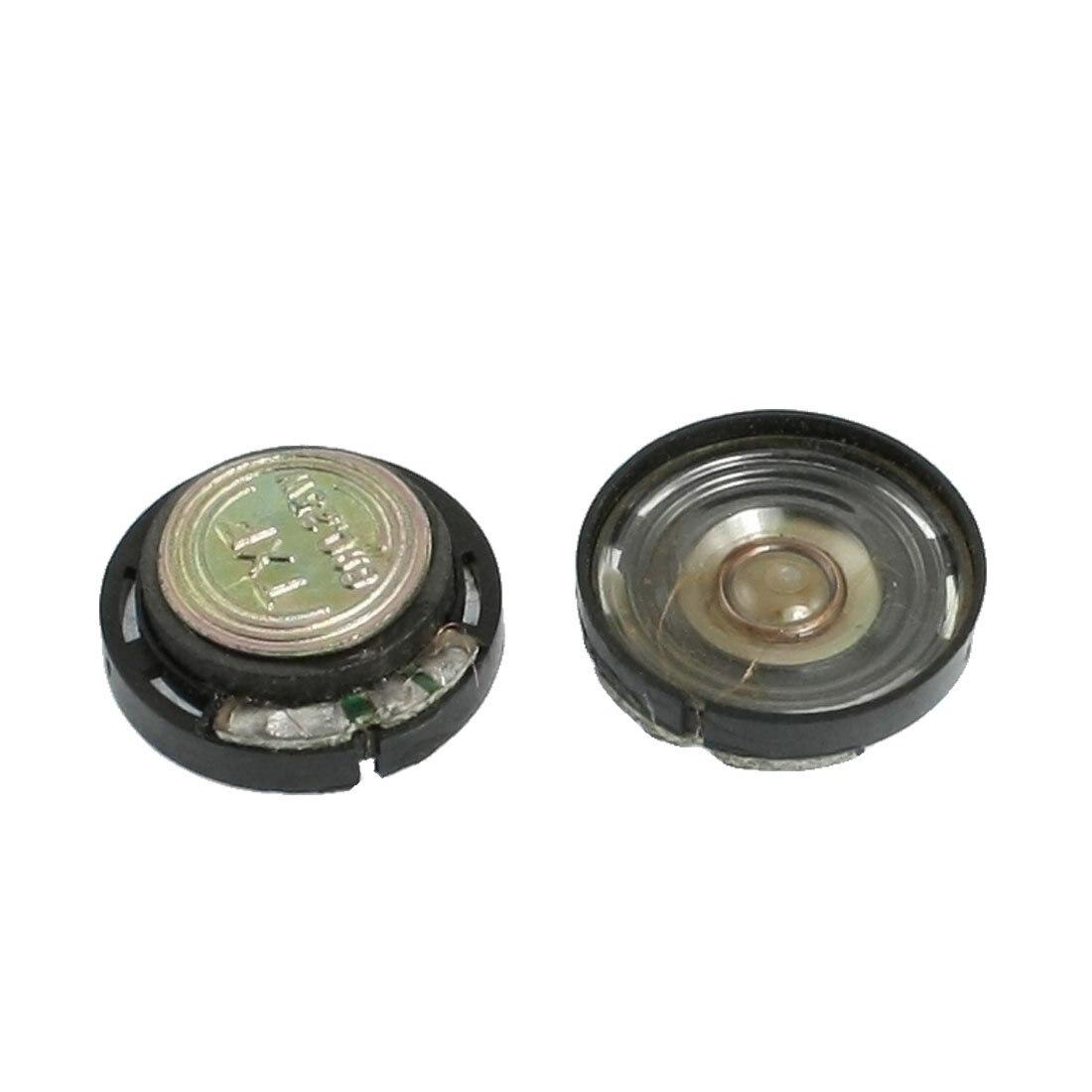 ETC-20mm 자기 형 라운드 플라스틱 쉘 스피커 8 옴 0.25 와트 2 개