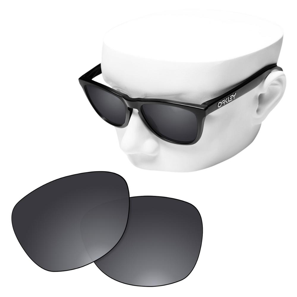 OOWLIT Polarized Replacement Lenses Of Black Chrome For-Oakley Frogskins Sunglasses