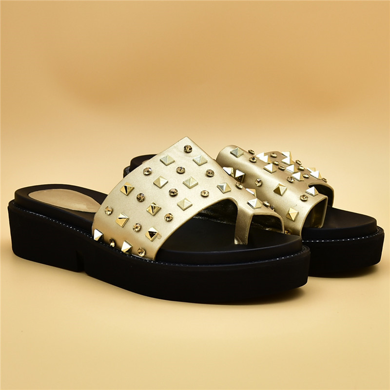 Con Mujer Slip gold Decorado Mujeres Lujo Zapatos red De sliver Black Para Africanas Las Vestido Rhinestone Boda En 0Fq7ww