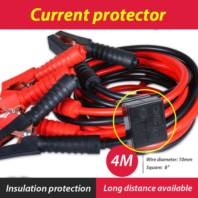 Emergency Power Battery Cables Car Auto Booster Cable CAR-partment Jumper Wire Charging Leads Car Van 4M current protector high quality 36 sqmm 4m jump leads booster cable car emergency tool jumper wire car battery firewire cables copper clip