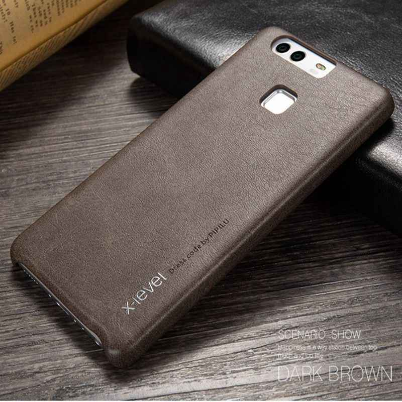 X-Level Luxury Leather Phone Case For Huawei P9 Hard Cover For Huawei Honor 8 Lite V9 9 P10 P9 Lite Plus Mate 9 Pro Etui EVA-L19