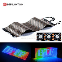 WS2812B Панель Экран 20*50 1000 Пиксели Гибкий цифровой светодиодный запрограммирован индивидуально адресуемых полный Цвет DC5V