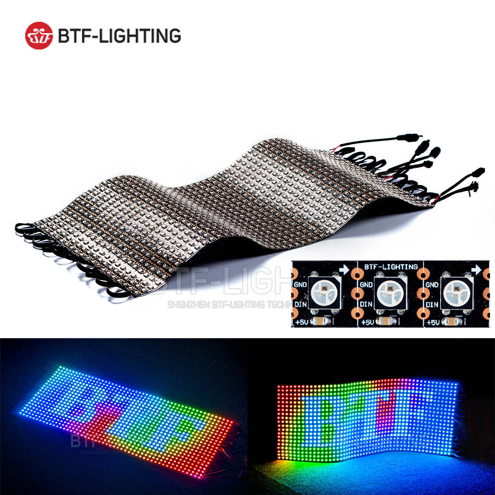 цена на WS2812B Panel Screen 20*50 1000 Pixels Digital Flexible LED Programmed Individually Addressable Full Color DC5V