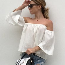womens tops and blouses shirt plus size casual boho off shoulder top blusas streetwear tunic 2018 summer top hippie chic DL7430