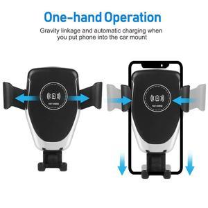 Image 3 - צ י אלחוטי מטען לרכב עבור iPhone 11 פרו XS Max XR X 8 הכבידה טלפון מחזיק 10W מהיר רכב אלחוטי מטען עבור סמסונג S10 S9 S8