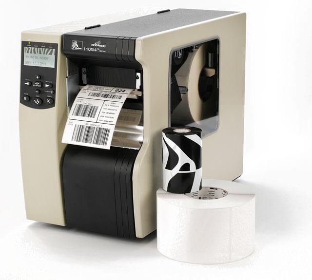 Original neuf véritable ZEBRA 110XI4 transfert thermique et série thermique directe 600 dpi imprimante de codes à barres d'étiquettes de bureau