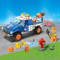207 unids ciudad serie de auxilio vial enlighten bloques de construcción para niños ladrillos educativos juguetes para niños