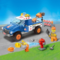 207Pcs City Series Road Wrecker Enlighten Building Blocks Kids Educational Bricks  Toys For Children