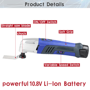 Image 2 - 12V Li ion Oscillating Multi Tool with 2 battery Cordless Power Tools for Home DIY Renovation Tools Electric Trimmer Saw