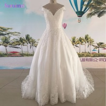Real Image Custom made Vintage Wedding Dress 2017 Off White Holy Wedding Dresses OEM bridal Gowns