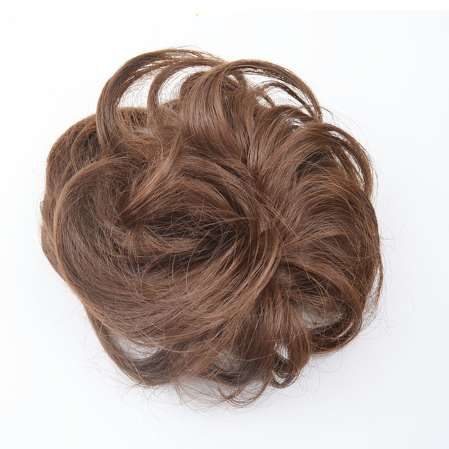 5pieces Jeedou Synthetic Brown Curly Chignon Hair Extension Womens