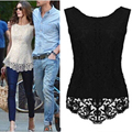 2017 New Summer Design Women Fashion Lace Blouses Sexy Plus Size Crochet Chiffon Tops Women