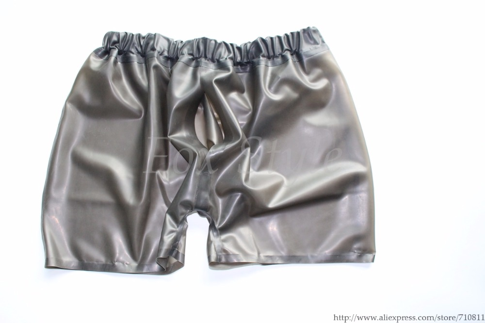 Men 's 100% handmade sexy latex sportpants exotic boxer short