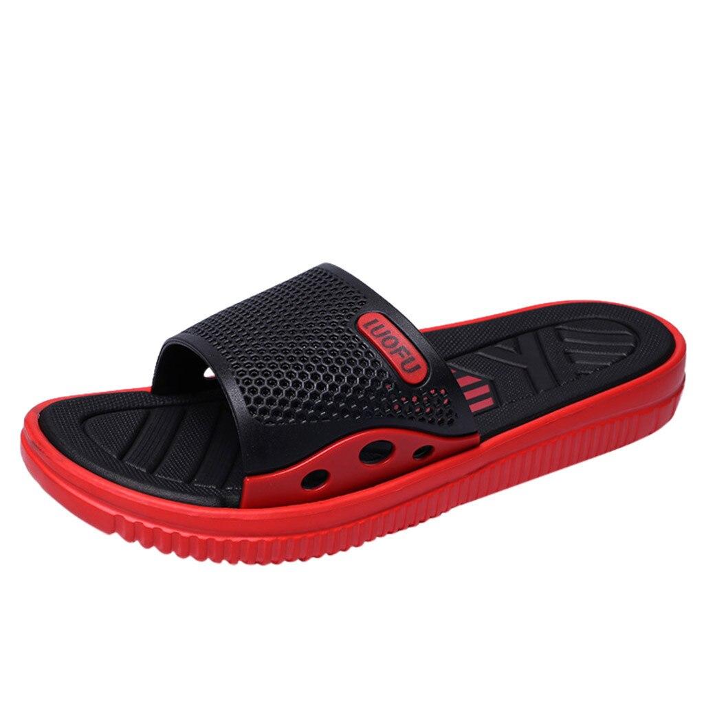 SAGACE; коллекция года; Мужские Модные Повседневные тапочки; летняя уличная Нескользящая пляжная обувь; домашние тапочки; Новинка - Цвет: Красный