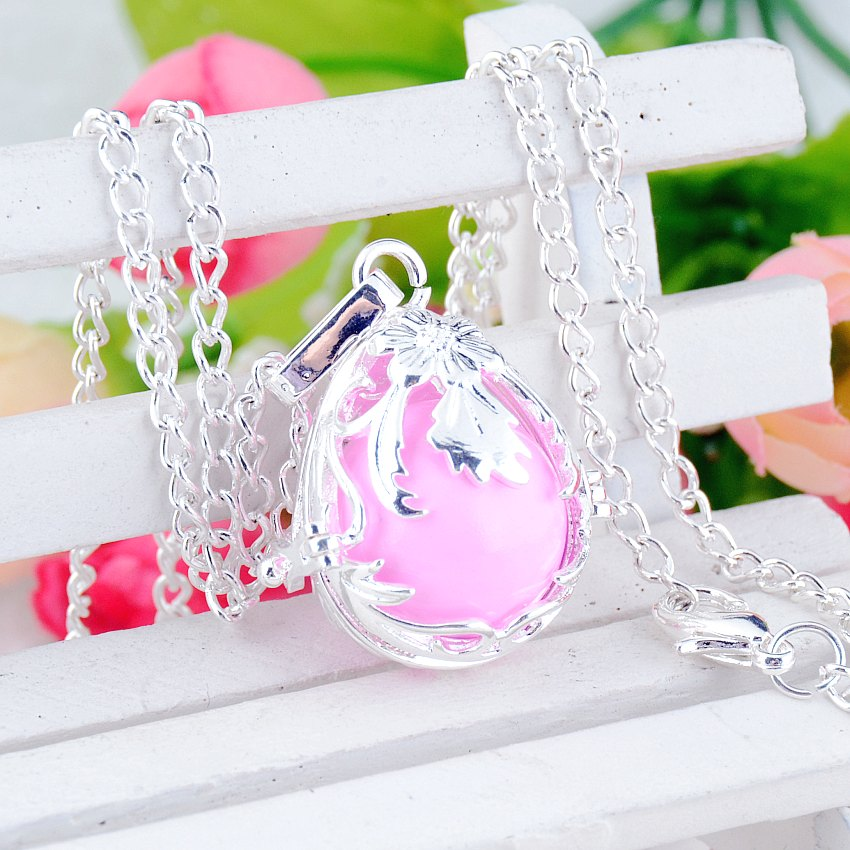 Free Shipping-Mum Gift Pregnancy Baby Gift Blackened Angel Mexico Bola Pregnant Bell Engelsrufer Necklace 24 y0027
