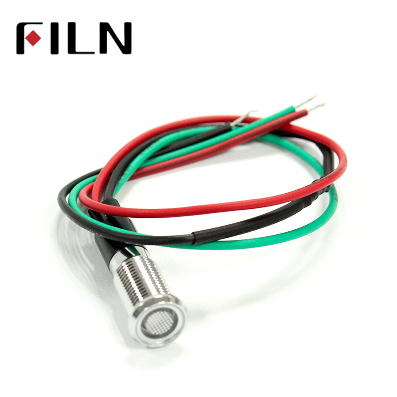 FILN FL1M-8FW-D 8mm Red Green Metal 6v 36v 110v 220v Bi-color 12v Led Indicator Light With Cable