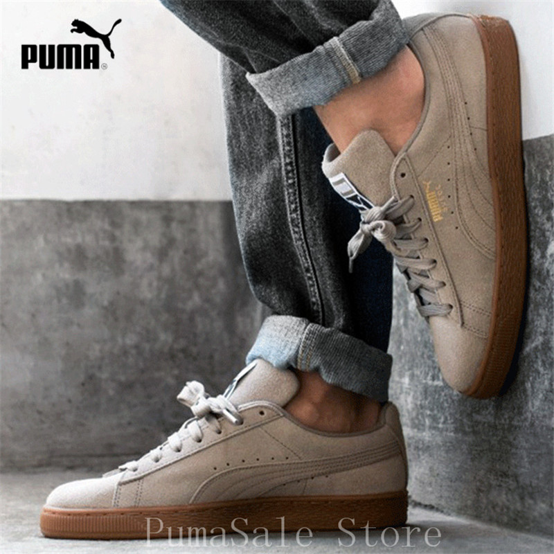 huge selection of 342f1 7598d US $52.95 17% OFF|Aliexpress.com : Buy Puma Suede Classic Low Top Sneakers,  Elephant Skin Team Gold Men And Women Shoes 365347 47 Outdoor Sport ...