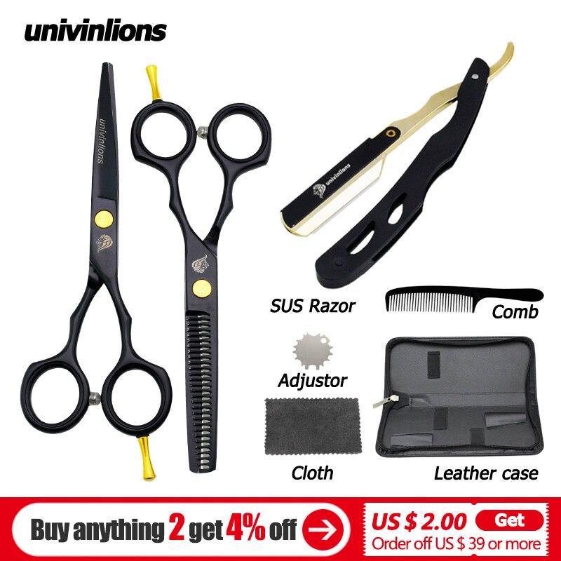 5.5'' sale black japan hair scissors teflon shears cheap hairdressing scissors barber thinning scissors hairdresser razor haircut
