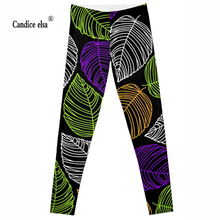 Leggings 2016 New Fashion Cool StyleDigital Print Women Sexy Pants Work Out Trousers Ropa Mujer Plus size of geometry leaves