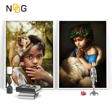 NOOG Girl and BOY Nordic Poster&Print Modern Canvas Painting Abstract Wall Art Minimalist Picture For Bedroom Home Decor