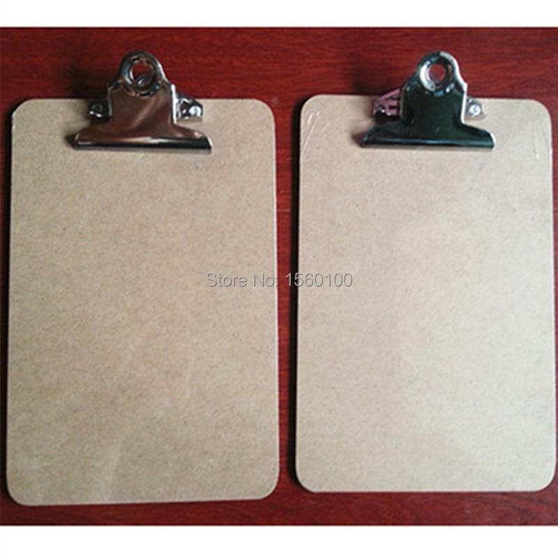 Безкоштовна доставка (6шт / пакет) A5 письмовій формі буфер обміну Дерев'яні файл буфер обміну ресторан буфер обміну канцелярське приладдя / канцелярські товари