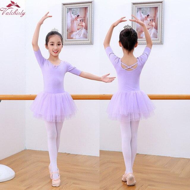 Обувь для девочек балетное платье пачка малышей милые гимнастика трико балерины танец Половина рукава Мягкая юбка с вышивкой хорошее качество