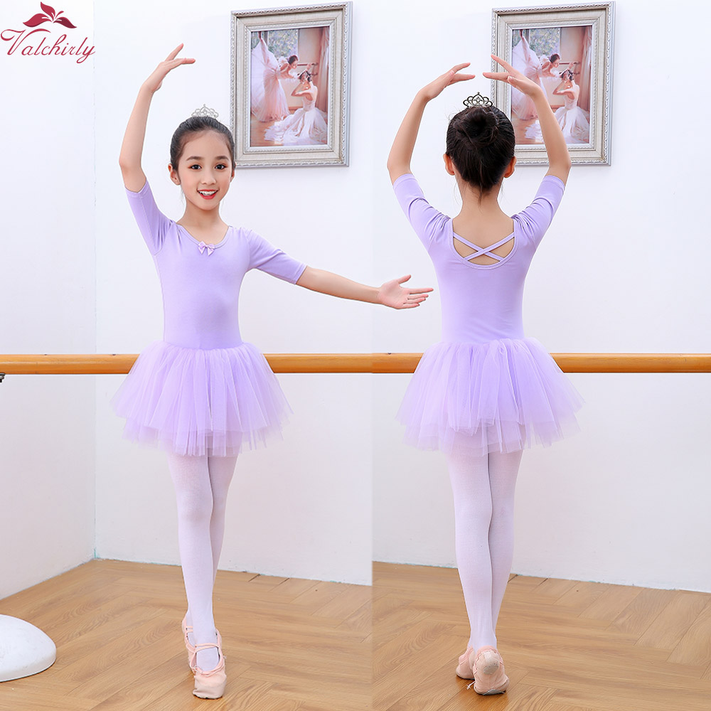 87ac29070a2c Girls Ballet Tutu Dress Toddlers Cute Gymnastics Leotard for ...