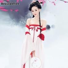 лучшая цена 2019 ancient chinese costume women traditional chinese dance clothing for women long sleeve hanfu satin robe dress qing