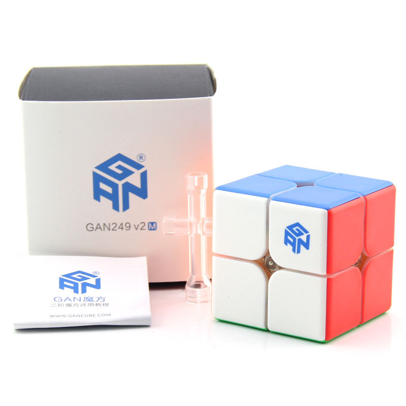 GAN249 V2 M 2x2x2 Magnetic Magic Cube Puzzle Cube 2x2 Gan Cubo de Velocidade 249 2 m Torção Enigma Profissional Kid Brinquedos Educativos Jogo
