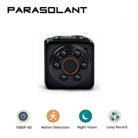 PARASOLANT Mini Camera 1080P Portable Tiny Video Recorder Cam With Night Vision Dash Camera Indoor Outdoor
