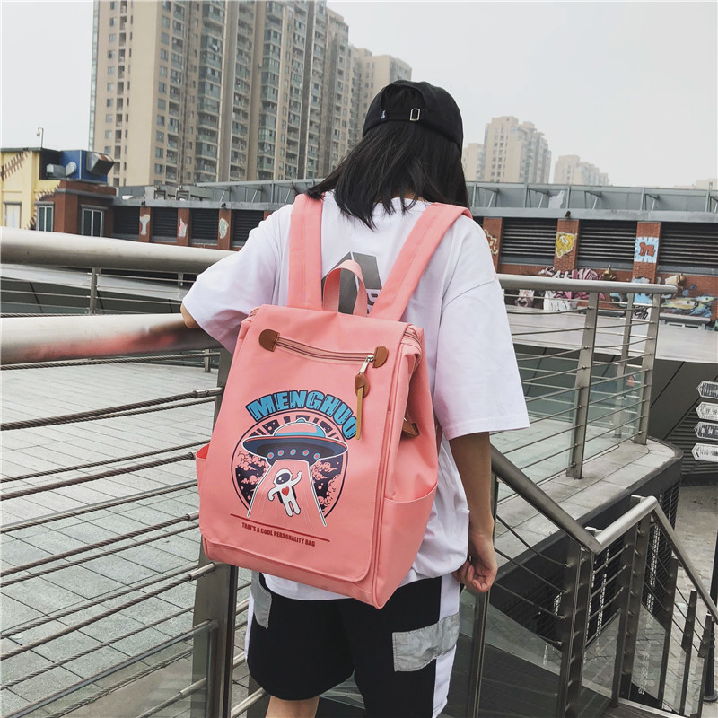 High Quality Women Backpack School Bag Cartoon Printing Women Shoulder Laptop Backpack Bag For Teenager Girls Mochila Mujer 2019