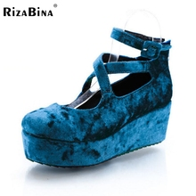 free shipping high heel wedge shoes women sexy dress footwear fashion pumps P11173 EUR size 30-43
