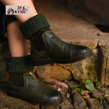 2017 Женская обувь на плоской подошве красивые повседневные Женские ботинки с круглым носком натуральная кожа сапоги невысокие сапоги бесплатная доставка 3188-90