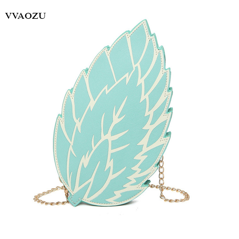 Для женщин 3D Творческий Harajuku Лолита Сумочка листьев стильная сумка Обувь для девочек листья, по форме сеть Crossbody Курьерские сумки Mochila