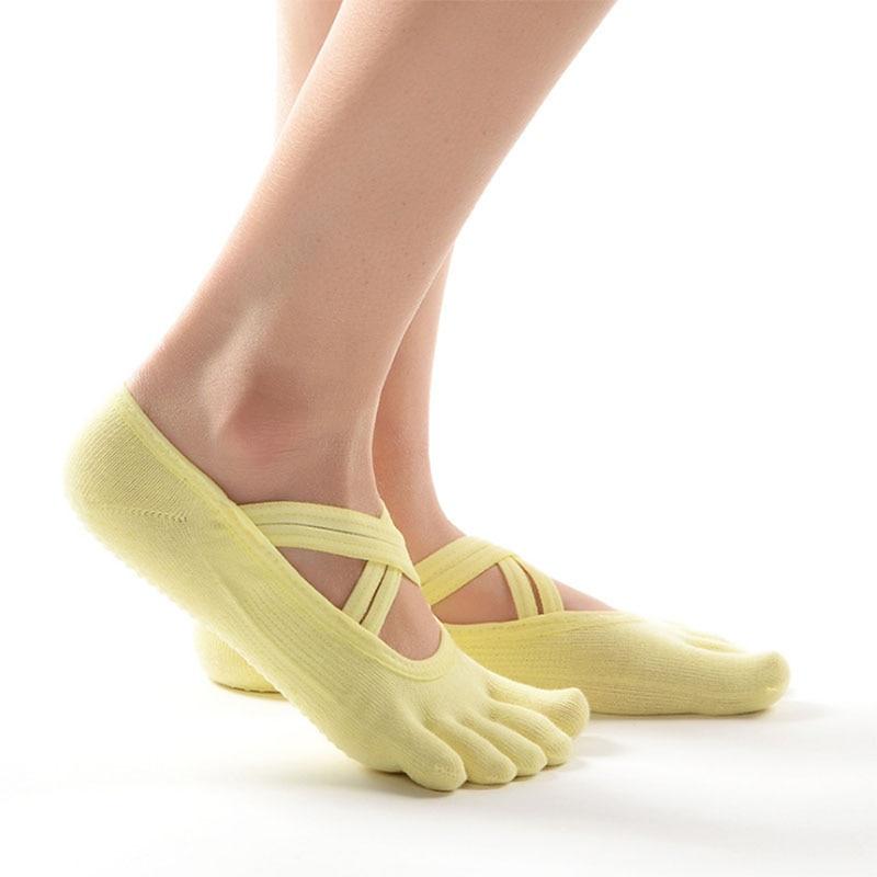 ★  Женщины 3D силиконовые противоскользящие бандаж йога носки 3 цвета полный носок с открытым носком же ✔
