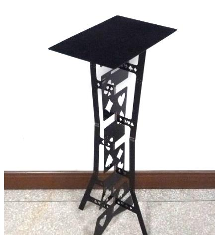 Magic Folding Table (Alloy)- Black color, Magician's best table. stage magic, close-up,illusions,Accessories,gimmick free shipping color pen prediction leather pen holder prophecy magic tricks mentalism stage close up illusions accessories