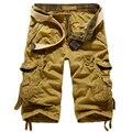 Nuevos Hombres cargo Shorts Bermudas Masculina Hombres Cargo Shorts para hombres Pantalones Cortos de Camuflaje Militar Camuflaje Ocasional Corta