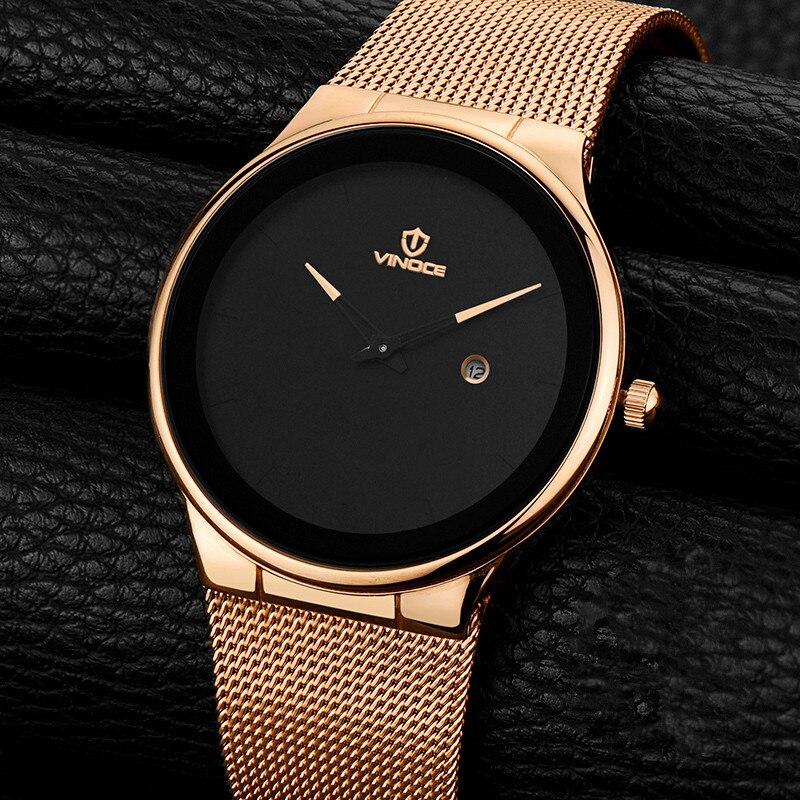 VINOCE Original Watch Men Top Brand Luxury Men Watch Steel Clock Men Watches Relogio Masculino Horloges