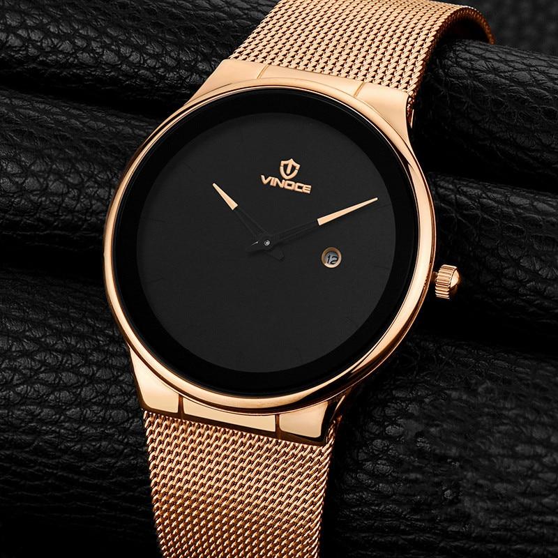 ef9c7bb6123f VINOCE Original reloj de los hombres superior de la marca de lujo de los  hombres reloj de acero de reloj relojes hombres reloj Masculino Bvlgari  Mannen ...